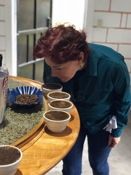 PJ's Franchisee Amanda Bennet At A Cupping Event