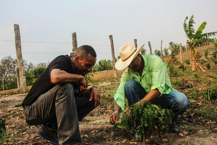 Coffee farmers in El Terrerito