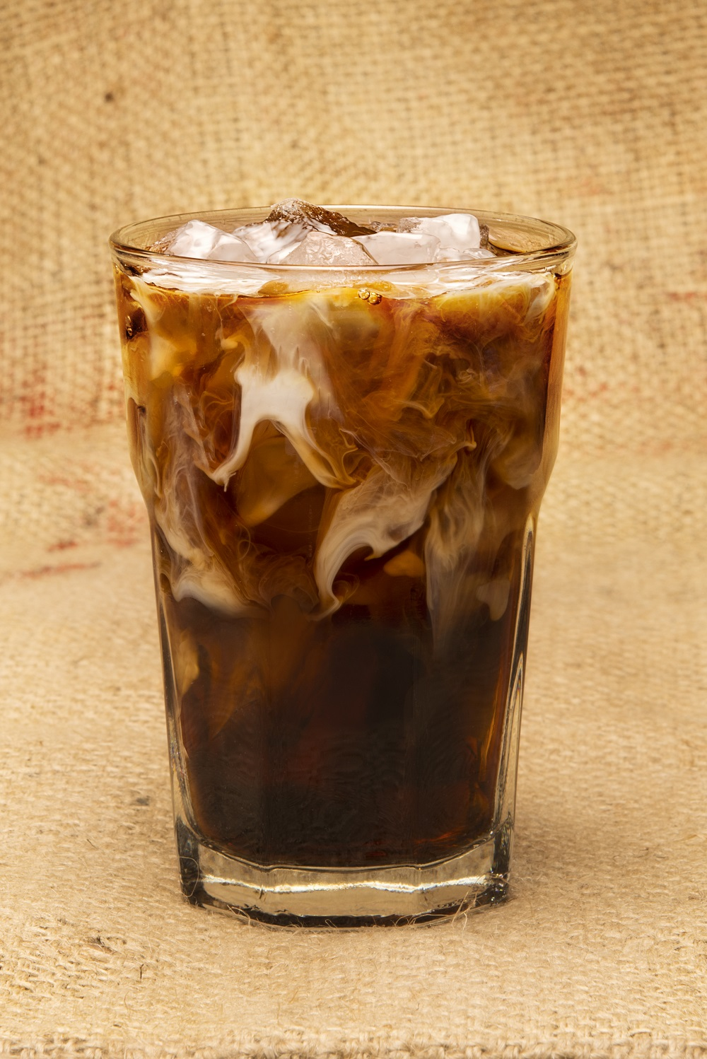 PJ's Coffee iced coffee with milk