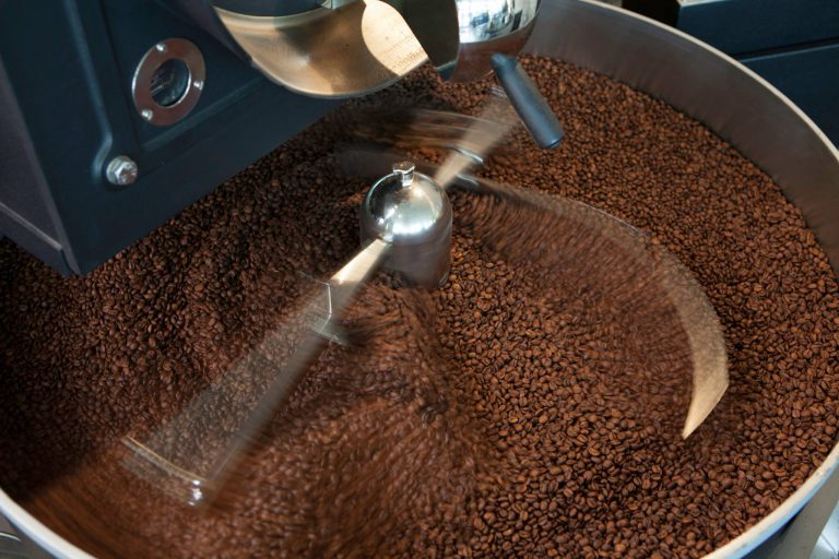 Grinding Coffee Beans Process