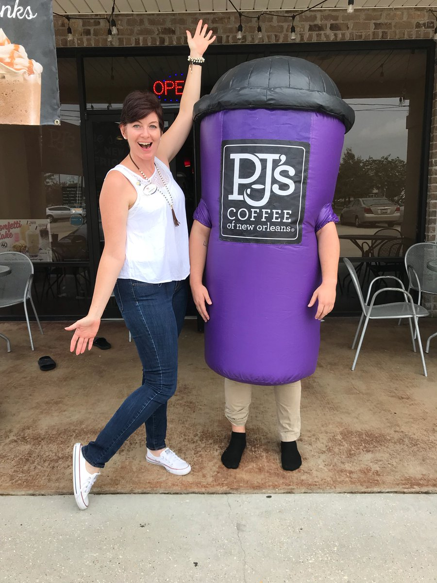 PJ's Coffee franchisee and PJ's Coffee mascot