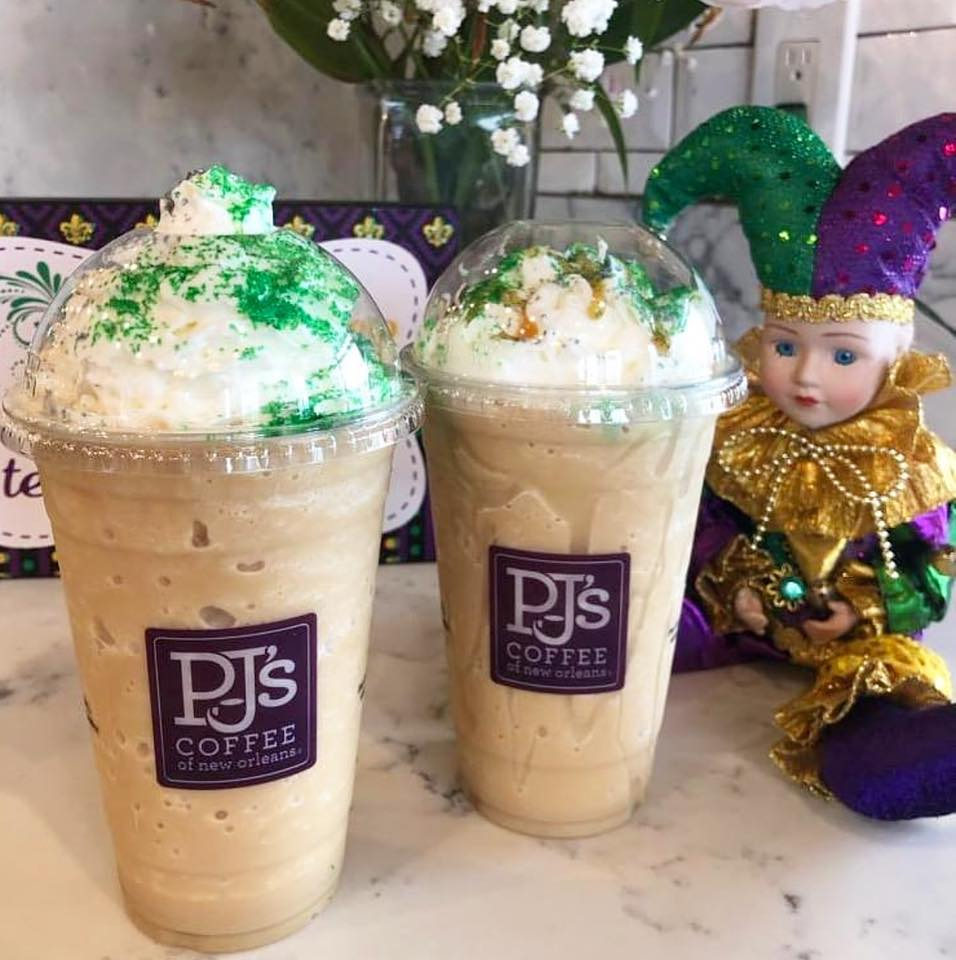 PJ's Coffee Mardi Gras-themed drinks