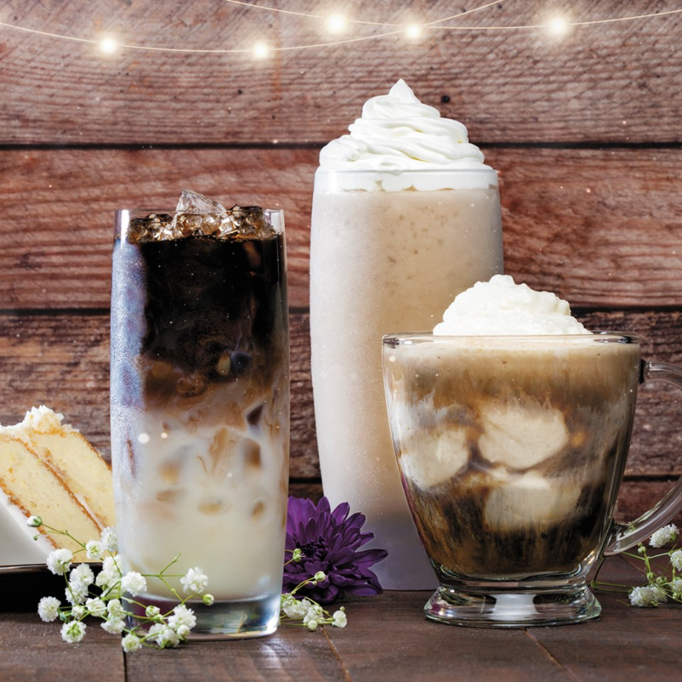 PJ's Coffee Southern Wedding Cake drinks